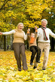 Family on the nature — Stock Photo