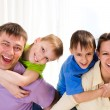 Parents with their two children — Stock Photo