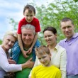 Happy family of six — Stock Photo #5509377