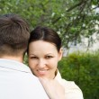 Couple in the summer park — Stock Photo #5509433