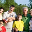 Stock Photo: Family of seven