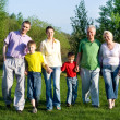 Happy family of six — Stock Photo #5509487