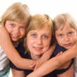 Stock Photo: Mom is with daughters