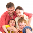 Happy parents with their children — Stock Photo #5509704