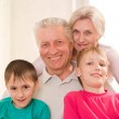 Portrait of a happy family playing — Stock Photo #5509832
