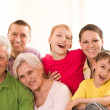 Portrait of a happy family — Stock Photo #5509843