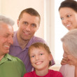 Portrait of a happy family — Stock Photo #5509853