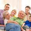 Portrait of a happy family — Stock Photo #5509875