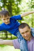 Far med sin son jag — Stockfoto