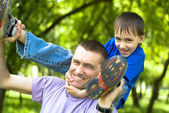 Happy dad with son — Stock Photo