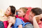 Parents with two children — Stock Photo