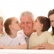 Portrait of a happy family of five — Stock Photo