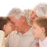 Happy family on a white — Stock Photo #5510201
