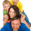 Portrait of a happy family — Stock Photo