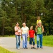 Happy family on the nature — Stock Photo #5511472