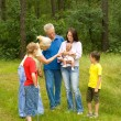 Happy family of six — Stock Photo #5511500