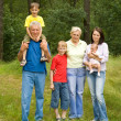 Portrait of a happy family of six — Stock Photo
