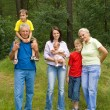 Portrait of a happy family of six — Stock Photo #5511527