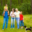 Family of six on the nature — Stock Photo #5511531