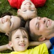 Boys with family in the park — Stock Photo