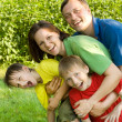 Portrait of a happy family — Stock Photo #5511838