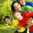 Portrait of a happy family — Stock Photo #5511843