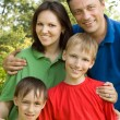 Portrait of a happy family of five — Stock Photo #5511874