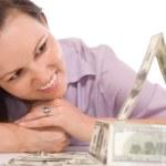 kvinna med pengar — Stockfoto #5512016