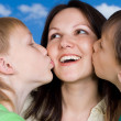 Mother with children — Stock Photo