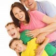 Foto Stock: Happy family of four