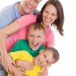 Happy family of four — Stock Photo #5514004