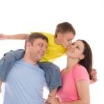 Happy family of three — Stock Photo #5514071
