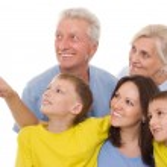 Happy family on a white background — Stock Photo #5514190