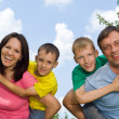 United family at the nature — Stock Photo