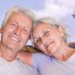Happy elderly couple — Stock Photo #5514474