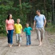 Rambling family in forest — Stock Photo #5514531