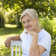 Stock Photo: Happy elderly woman