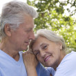 Old couple resting — Stock Photo #5514891
