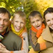 Nice family on the nature — Stock Photo #5516046
