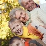 Nice happy family — Stock Photo