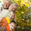 Stock Photo: Happy family on nature