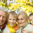 Happy nice family of four — Stock Photo #5516079