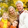 Stock Photo: Nice family on nature