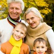 Nice family on the nature — Stock Photo #5516115