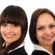 Stock Photo: Girls in a black business suit