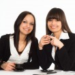 Stock Photo: Women sitting at the table