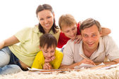 Família feliz 4 — Fotografia Stock