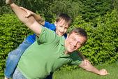 彼の息子を持つ父 — ストック写真