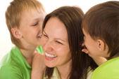 Mom and children — Stock Photo