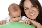 Newborn with her mother — Stock Photo